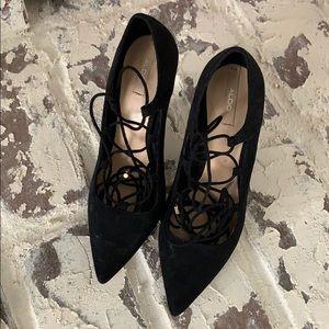 Aldo laceup heels.
